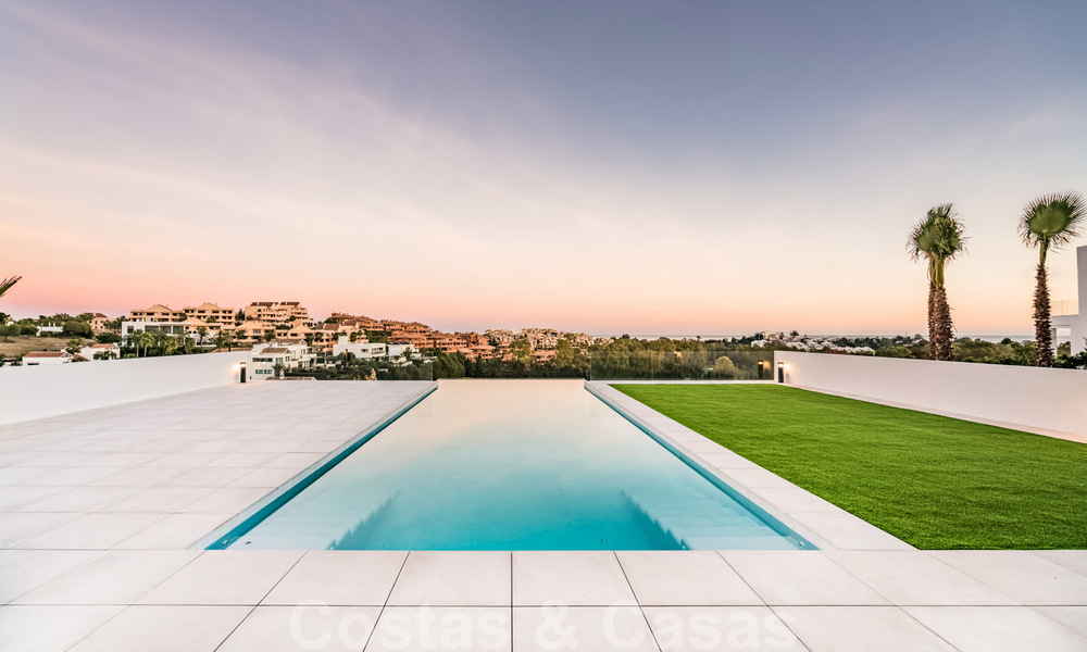 New impressive contemporary luxury villa for sale with stunning golf and sea views in Marbella - Benahavis 25790