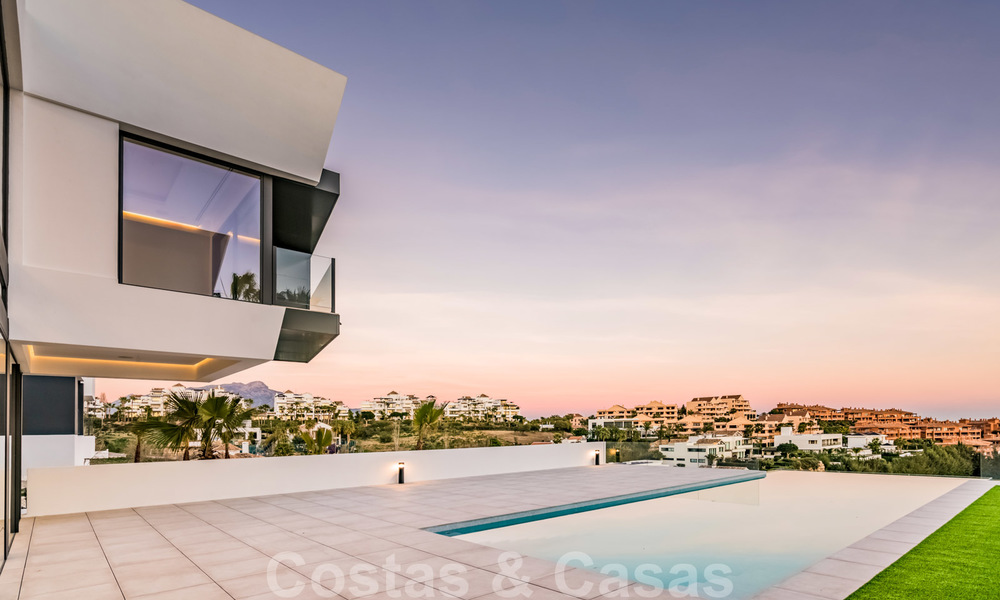 New impressive contemporary luxury villa for sale with stunning golf and sea views in Marbella - Benahavis 25791