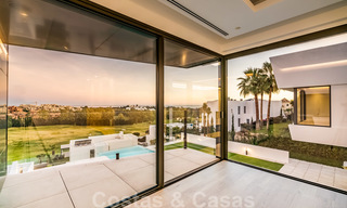 New impressive contemporary luxury villa for sale with stunning golf and sea views in Marbella - Benahavis 25792