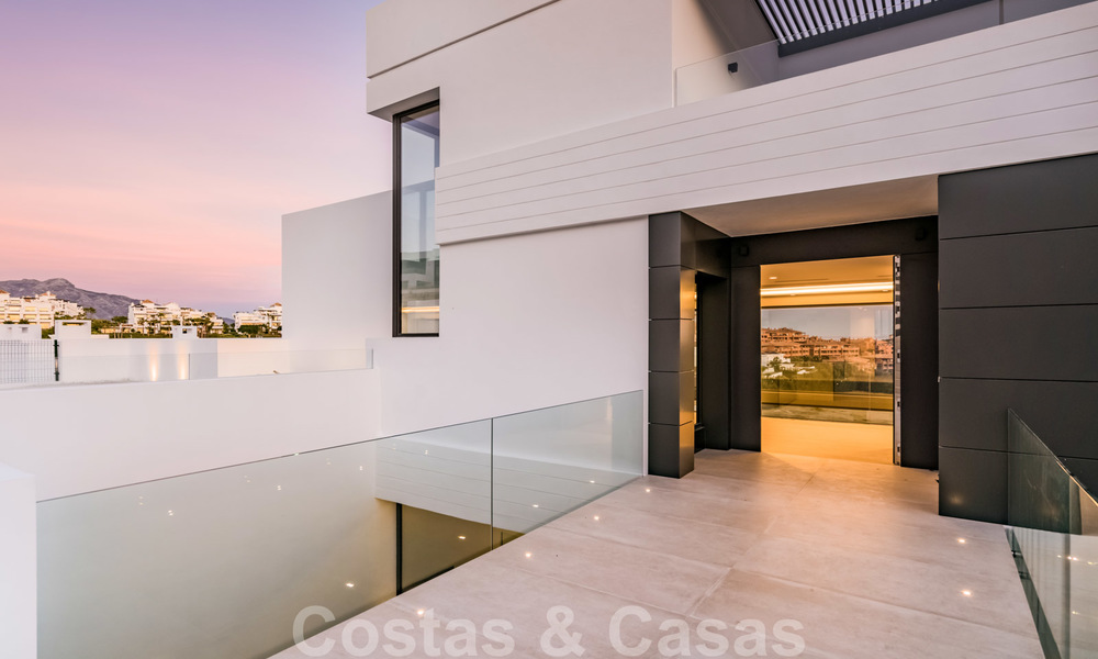 New impressive contemporary luxury villa for sale with stunning golf and sea views in Marbella - Benahavis 25793