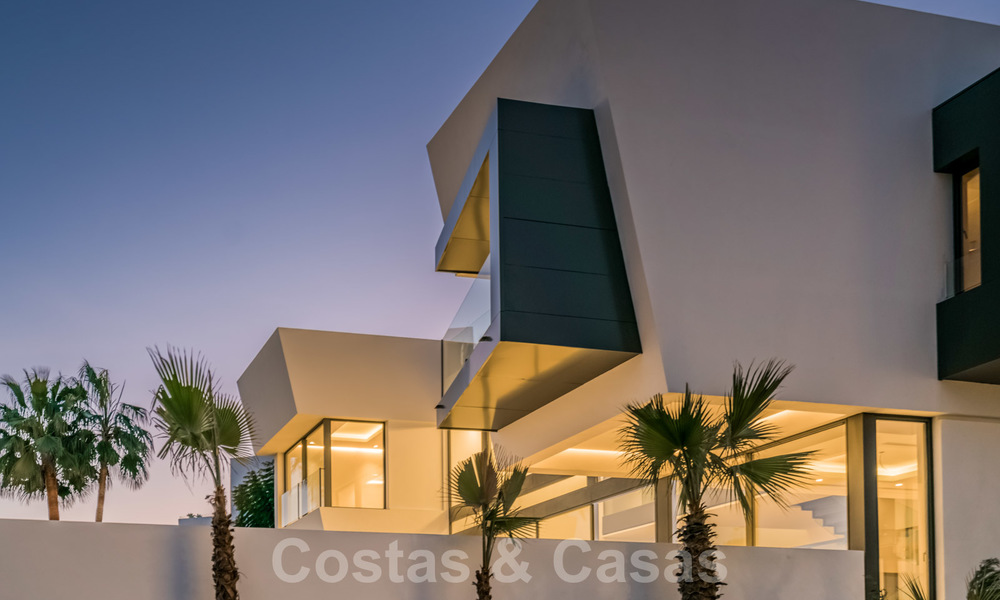 New impressive contemporary luxury villa for sale with stunning golf and sea views in Marbella - Benahavis 25794