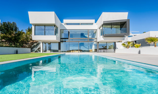 New impressive contemporary luxury villa for sale with stunning golf and sea views in Marbella - Benahavis 25795