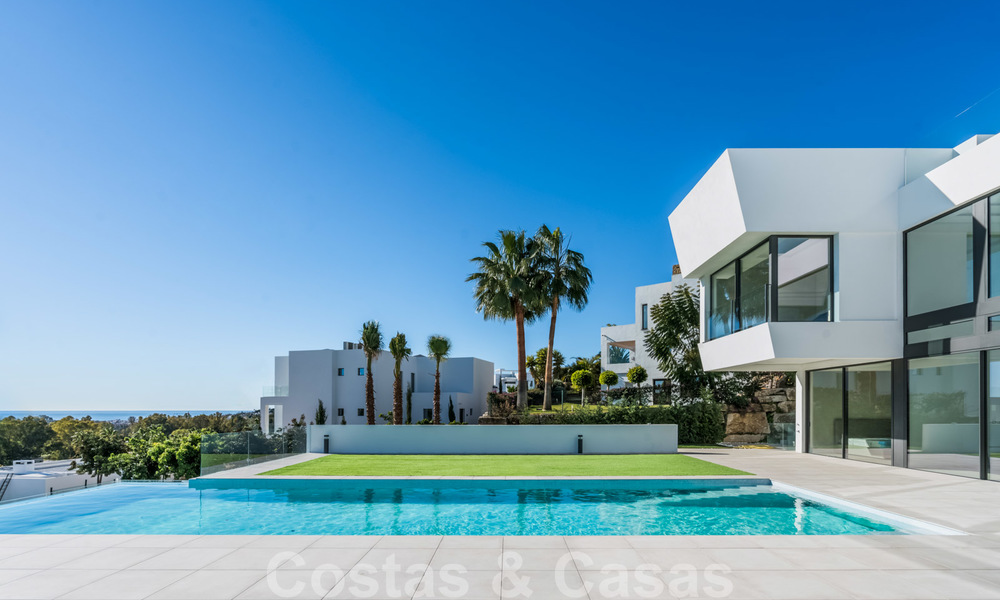 New impressive contemporary luxury villa for sale with stunning golf and sea views in Marbella - Benahavis 25796