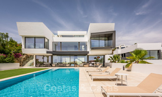 New impressive contemporary luxury villa for sale with stunning golf and sea views in Marbella - Benahavis 25799
