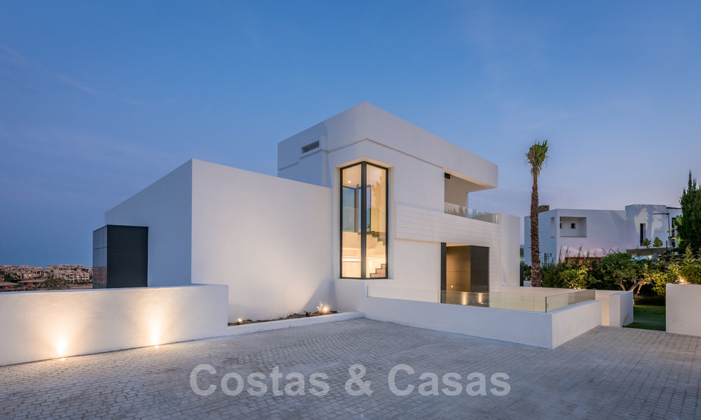 New impressive contemporary luxury villa for sale with stunning golf and sea views in Marbella - Benahavis 25805