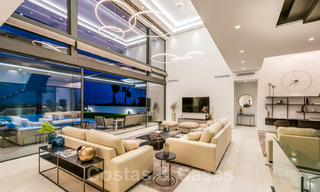New impressive contemporary luxury villa for sale with stunning golf and sea views in Marbella - Benahavis 25807