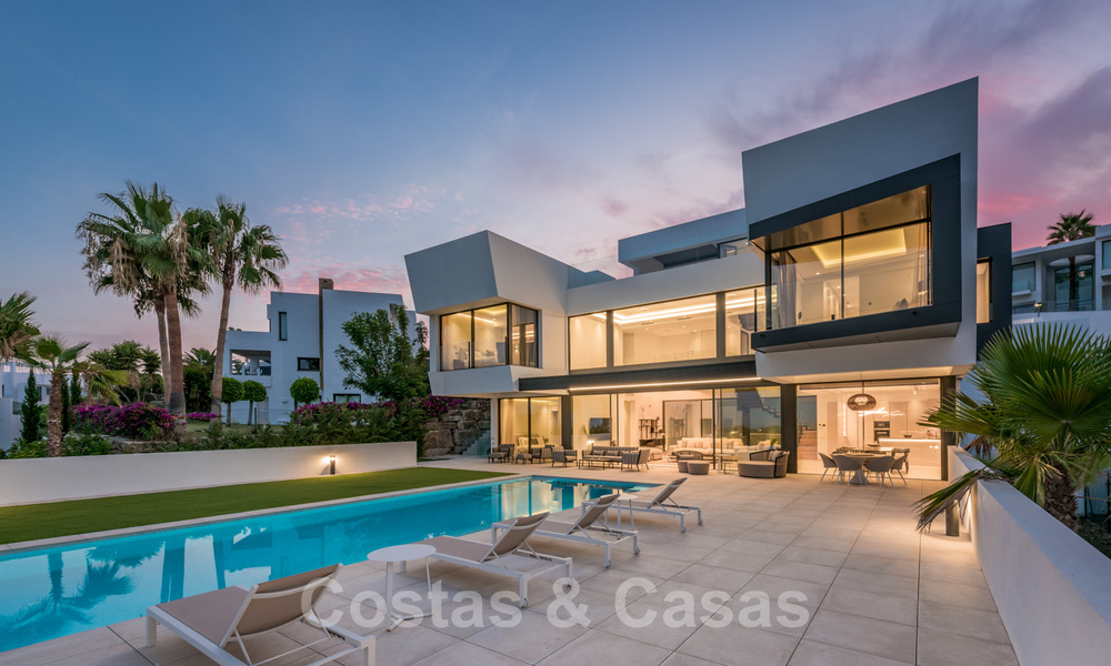 New impressive contemporary luxury villa for sale with stunning golf and sea views in Marbella - Benahavis 25808
