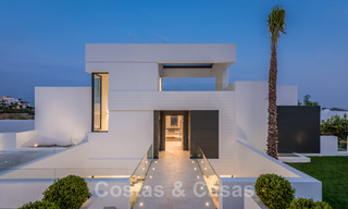 New impressive contemporary luxury villa for sale with stunning golf and sea views in Marbella - Benahavis 25811