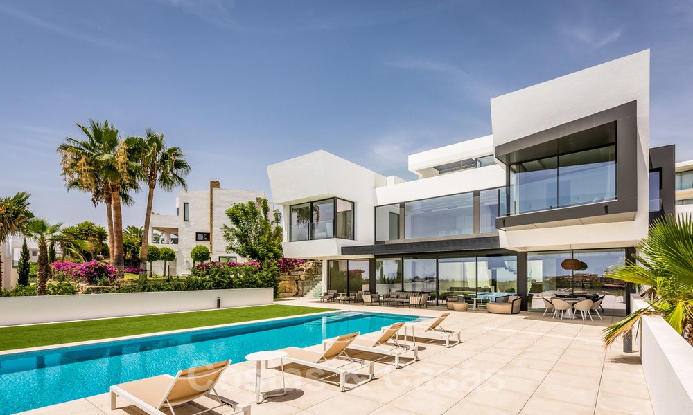 New impressive contemporary luxury villa for sale with stunning golf and sea views in Marbella - Benahavis 25814