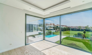 Ready to move in new modern luxury villa for sale, located directly on the golf course in Marbella - Benahavis 25853