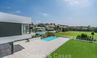 Ready to move in new modern luxury villa for sale, located directly on the golf course in Marbella - Benahavis 25854