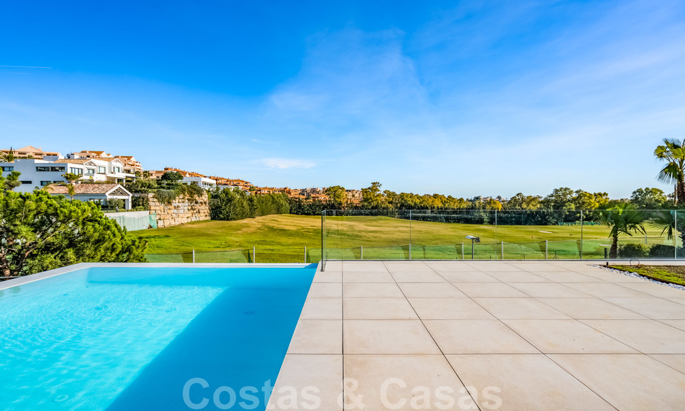 Ready to move in new modern luxury villa for sale, located directly on the golf course in Marbella - Benahavis 25863
