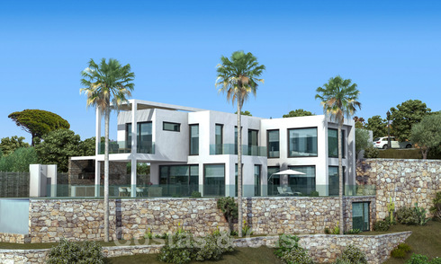 Luxury new build villa in modern style for sale with panoramic mountain and sea views in the prestigious Valtocado area in Mijas, Costa del Sol 25948