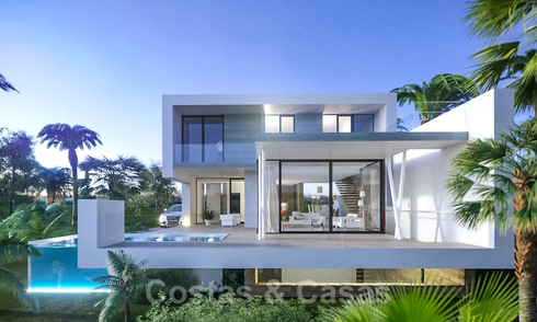 Modern contemporary villas for sale under construction, directly on the golf course located in Marbella - Estepona 25978