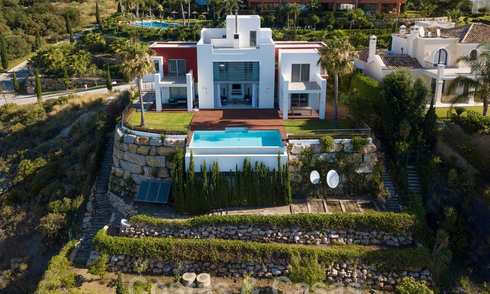 Modern villa with panoramic golf and sea views for sale in Los Flamingos Golf in Marbella - Benahavis 26015