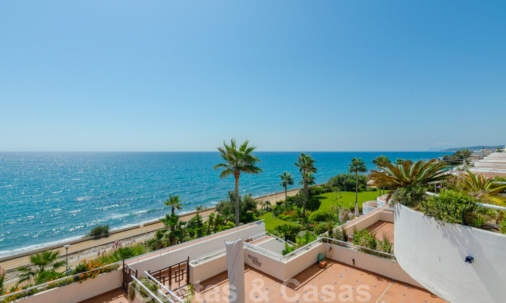 Penthouse apartment for sale, first line beach with panoramic sea view in Estepona 26171