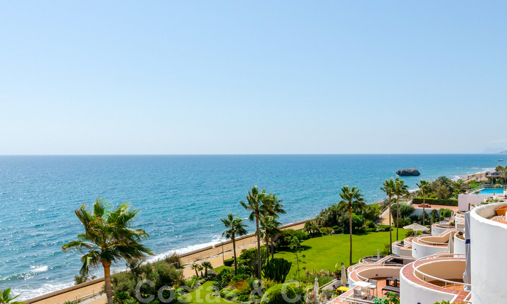 Penthouse apartment for sale, first line beach with panoramic sea view in Estepona 26175