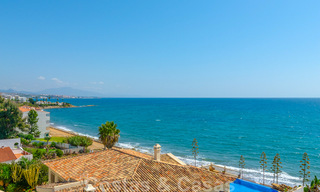 Penthouse apartment for sale, first line beach with panoramic sea view in Estepona 26176