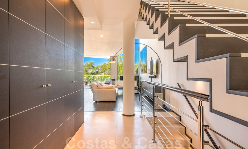 Modern luxury corner house with sea view for sale in the exclusive Sierra Blanca, Marbella 27143