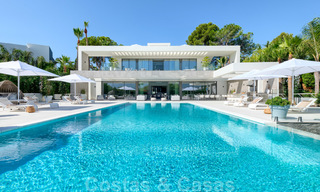 Exclusive new modern villa for sale, directly on the Las Brisas golf course in the Golf Valley of Nueva Andalucia, Marbella 27435