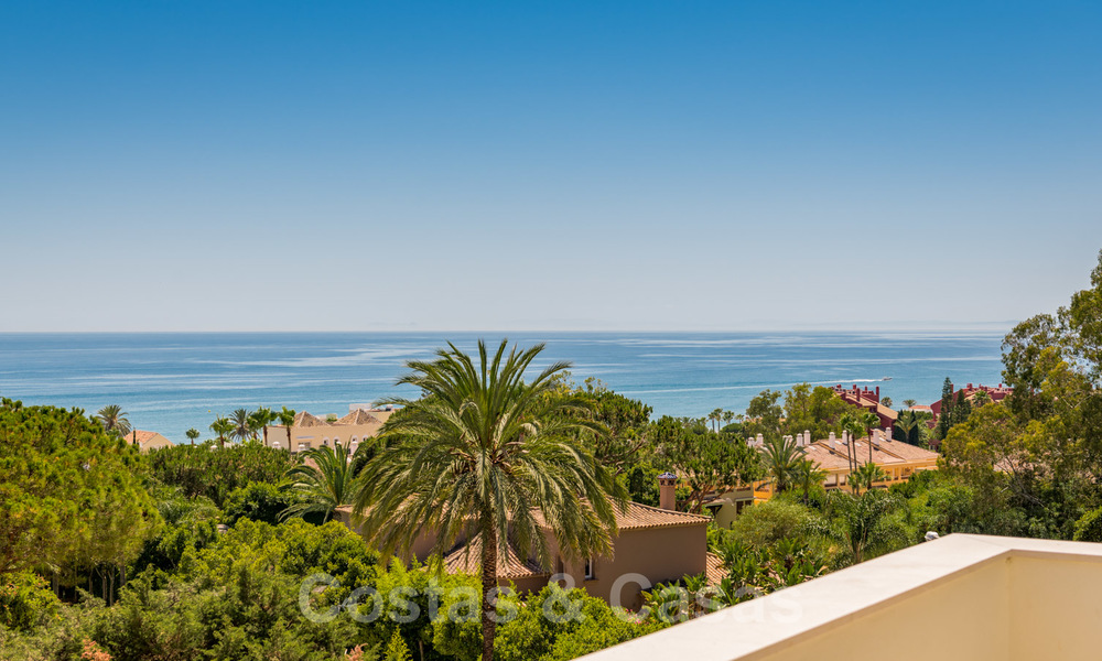 Ready to move in contemporary Mediterranean villa with sea views for sale at a short walking distance to the beach and all amenities, beach side Elviria in Marbella 27535