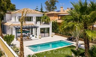 Ready to move in contemporary Mediterranean villa with sea views for sale at a short walking distance to the beach and all amenities, beach side Elviria in Marbella 27544