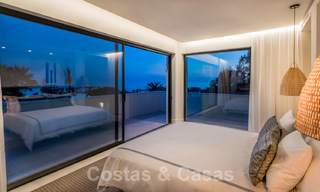Ready to move in contemporary Mediterranean villa with sea views for sale at a short walking distance to the beach and all amenities, beach side Elviria in Marbella 27550