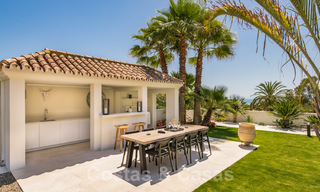 Ready to move in contemporary Mediterranean villa with sea views for sale at a short walking distance to the beach and all amenities, beach side Elviria in Marbella 27565