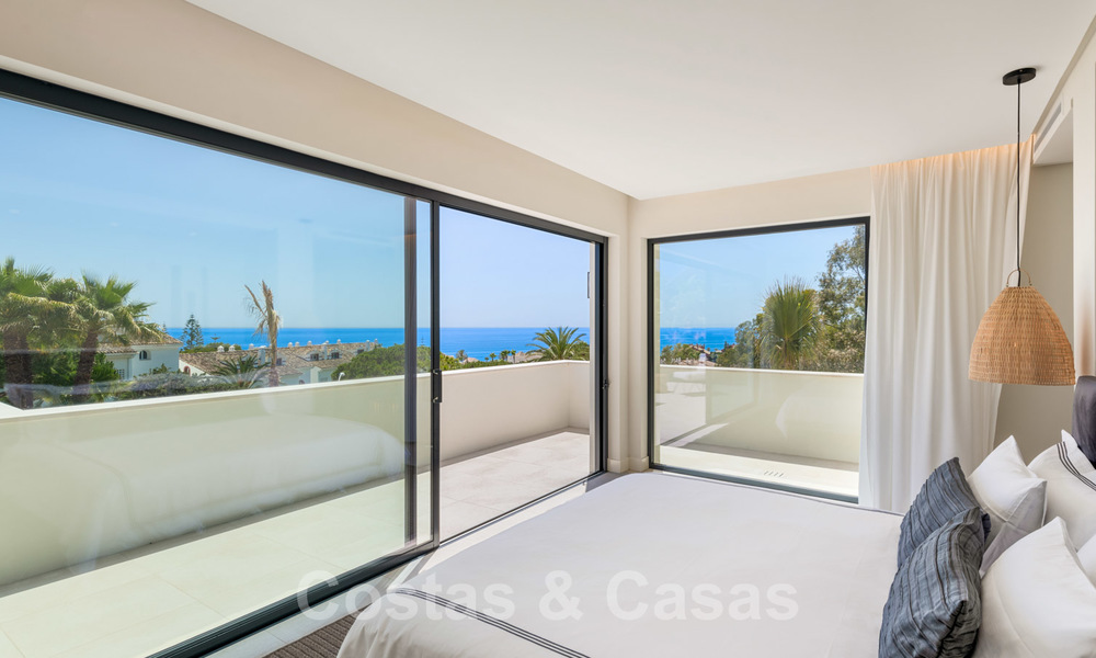 Ready to move in contemporary Mediterranean villa with sea views for sale at a short walking distance to the beach and all amenities, beach side Elviria in Marbella 27568
