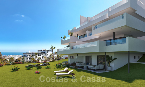 New modern apartments with panoramic mountain- and sea views for sale in the hills of Estepona, close to town 27736