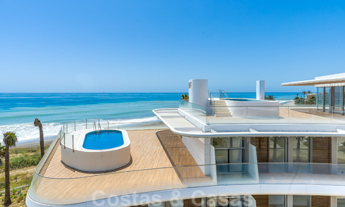 Spectacular modern luxury beachfront penthouses for sale in Estepona, Costa del Sol. Ready to move in. 27811