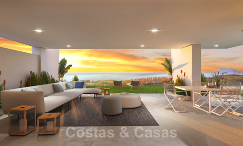 New modern apartments with many facilities and panoramic sea views for sale near Estepona town 27887