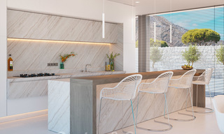 New modern luxury villas for sale with spectacular views of the golf, the lake and the Mediterranean to Africa, in a gated golf resort in Benahavis - Marbella 27923