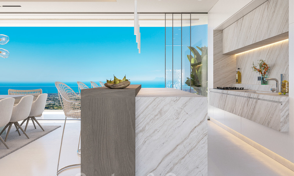 New modern luxury villas for sale with spectacular views of the golf, the lake and the Mediterranean to Africa, in a gated golf resort in Benahavis - Marbella 27928