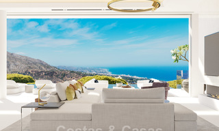 New modern luxury villas for sale with spectacular views of the golf, the lake and the Mediterranean to Africa, in a gated golf resort in Benahavis - Marbella 27933