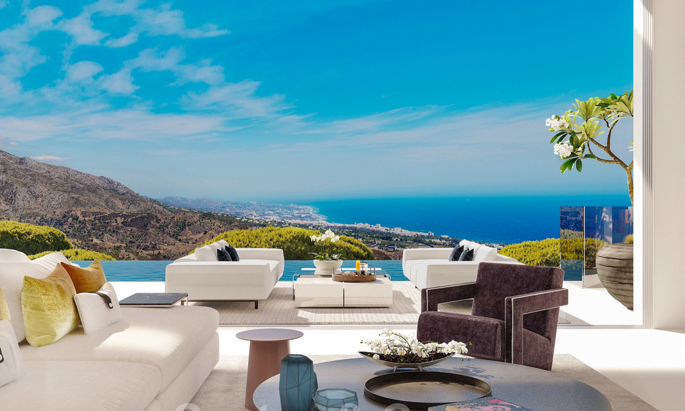 New modern luxury villas for sale with spectacular views of the golf, the lake and the Mediterranean to Africa, in a gated golf resort in Benahavis - Marbella 27938