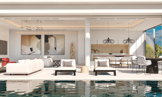 New modern luxury villas for sale with spectacular views of the golf, the lake and the Mediterranean to Africa, in a gated golf resort in Benahavis - Marbella 27945
