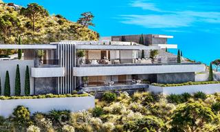 New modern luxury villas for sale with spectacular views of the golf, the lake and the Mediterranean to Africa, in a gated golf resort in Benahavis - Marbella 27955