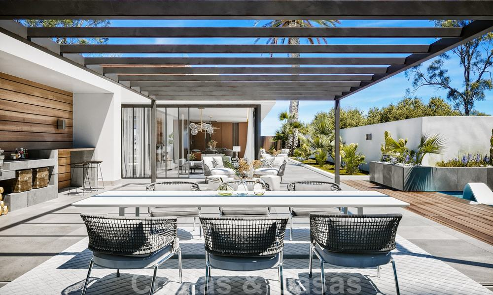 Unique opportunity, elegantly renovated villa in the heart of the Golf Valley in Nueva Andalucia, Marbella. Close to Puerto Banus. 28060