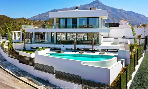 Exquisite modern villa with magnificent panoramic sea views for sale, Nueva Andalucia, Marbella 28076