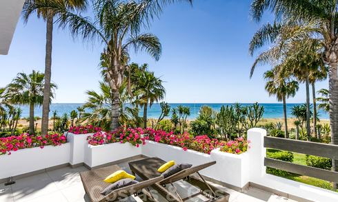 Renovated frontline beach townhouse for sale in Costalita, New Golden Mile, Marbella - Estepona, with stunning panoramic sea views 28425