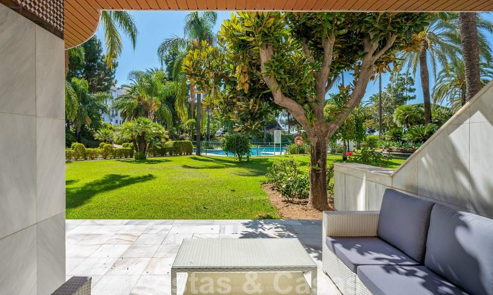 Renovated flat for sale in the iconic first line beach complex Gray D'Albion in Puerto Banus, Marbella 28391