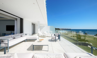 Private resale! Brand new on the market. Ultra deluxe avant garde beach front apartment for sale in an exclusive complex on the New Golden Mile, Marbella - Estepona 28532