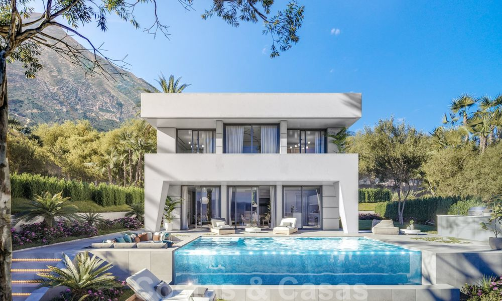 Elegant, new modern villas for sale in Manilva, Costa del Sol. Walking distance to the beach, golf club, amenities, restaurants and marina. Pre-launch price. 28627