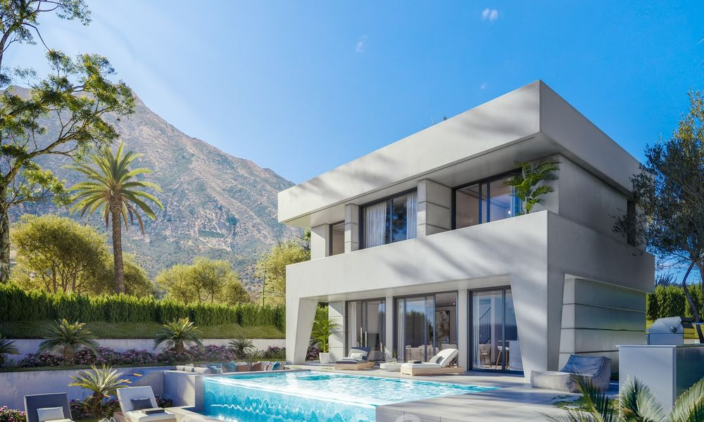 Elegant, new modern villas for sale in Manilva, Costa del Sol. Walking distance to the beach, golf club, amenities, restaurants and marina. Pre-launch price. 28629