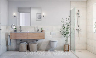 Elegant, new modern villas for sale in Manilva, Costa del Sol. Walking distance to the beach, golf club, amenities, restaurants and marina. Pre-launch price. 28630