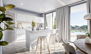 Elegant, new modern villas for sale in Manilva, Costa del Sol. Walking distance to the beach, golf club, amenities, restaurants and marina. Pre-launch price. 28632