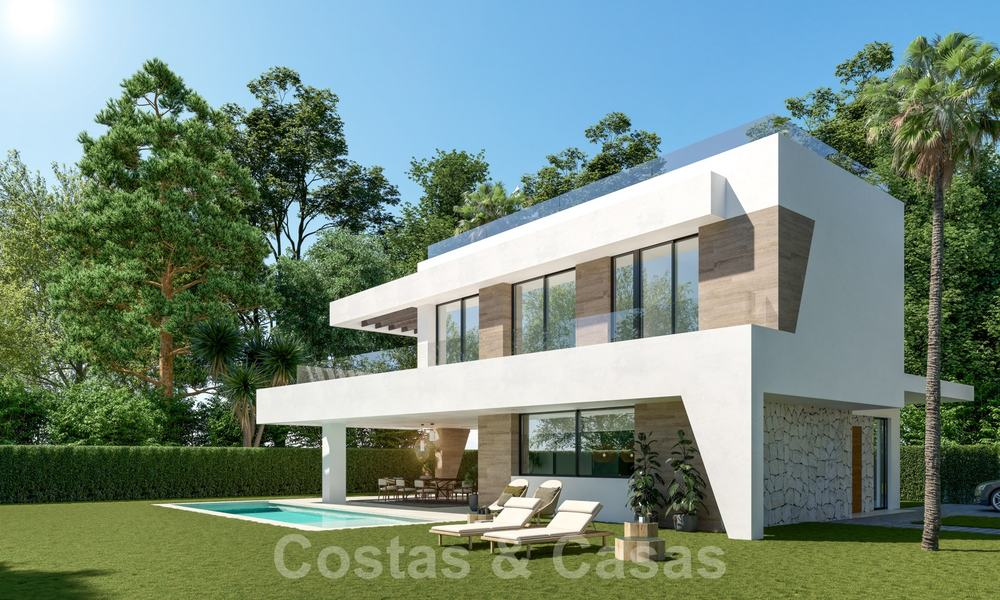 New innovative luxury villa in modern style for sale, beachside Elviria, Marbella 28636