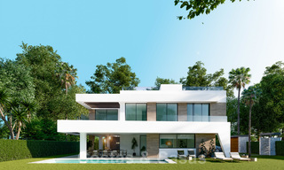 New innovative luxury villa in modern style for sale, beachside Elviria, Marbella 28637