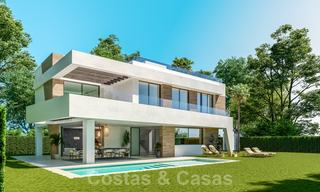 New innovative luxury villa in modern style for sale, beachside Elviria, Marbella 28639